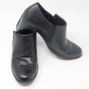 BASS Tiana Black Vegan Zippered Bootie-Size 10M